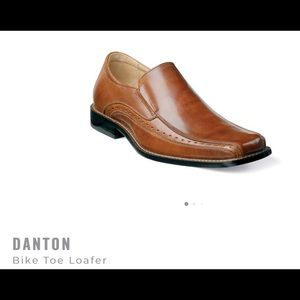 Stacy Adams Danton Bike Toe loafer, cognac